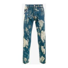Gucci Bleached Denim Punk Jeans (12,575 MXN) ❤ liked on Polyvore featuring men's fashion, men's clothing, men's jeans, gucci mens jeans, mens bleached jeans, mens slim jeans, mens slim fit jeans and mens zipper jeans