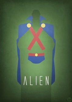 Martian Manhunter x Alien Mashup Superhero Family, Superhero Movies, Martian Manhunter, Marvel Dc Comics, Anime Comics, Pitch, Superman, Batman, Poster Series