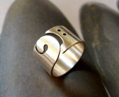 Statement Bass clef ring...pinned by ♥ wootandhammy.com, thoughtful jewelry.: