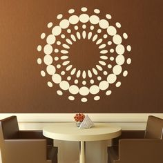 illusion of circle wall stickers