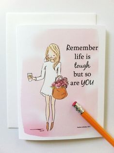 Encouragement Card  Card for Friends  Get by RoseHillDesignStudio