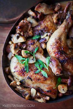 kurczak z kurkami i pieczarkami.