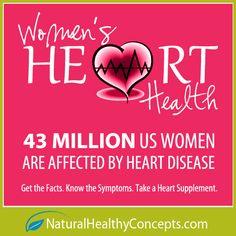 Women's Heart Health... 43 Million US Women are affected by Heart Disease