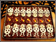 Halloween Cupcakes And Skeleton Brownies