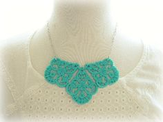 Turquoise Large Filigree Statement Necklace