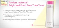 flawless radiance Bright and Fresh Even Tone Toner Moisturiser, Your Skin, Spotlight, Bright, Fresh, Spot Lights