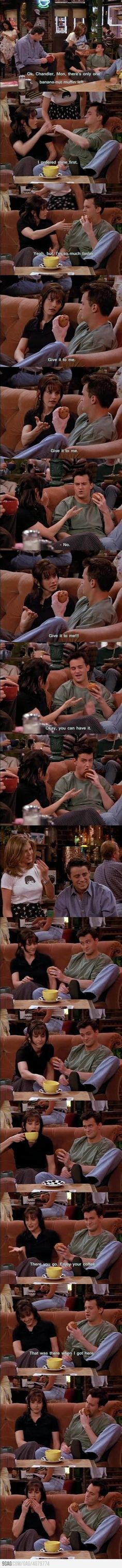 Monica & Chandler This Friends tv show quote is so funny. I can't stop laughing. | Friends tv show Humor | Friends tv show Funny | Friends tv show Meme | friends tv show | Chandler Bing Quotes |