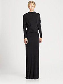 L'AGENCE - V-Back Dolman Dress...that black dress...