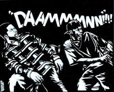 Items similar to Friday (Ice Cube/Craig, Chris Tucker/Smokey) Airbrush Stencil Graffiti Art on Etsy Friday Ice Cube Movie, Friday Movie Quotes, Stencil Graffiti, Graffiti Art, Trill Art, Chris Tucker, Music Pics, Hip Hop And R&b, Cute Disney