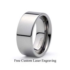 Tungsten Wedding Band,9mm,mens tungsten Polished band, Free Laser Engraving.Anniversary,his,hers,matching set, handmade item,made to order by carat323 on Etsy https://www.etsy.com/listing/215273319/tungsten-wedding-band9mmmens-tungsten