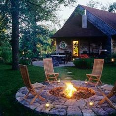 Fire pit for outside the screened in porch Luv it