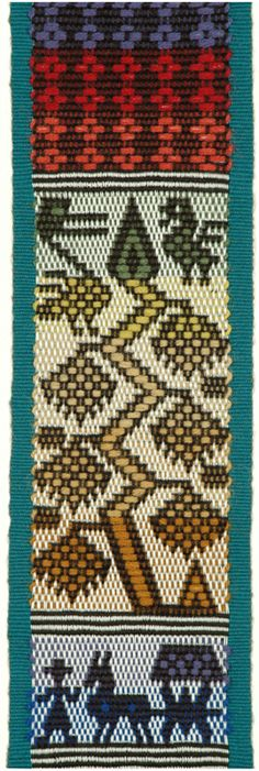 Totonicapan band weaving on a 4-harness loom. Marijke van Epen