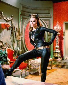 Julie Newmar as Catwoman for the 'Batman' TV series, 1966 OnThisDay & Facts ( Adam West Batman, Batman Y Robin, Batman 1966, Im Batman, Batman Room, Catwoman Cosplay, Cosplay Gatúbela, Cosplay Ideas, Costume Ideas