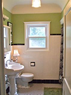 Love the rounded ceiling corners, vintage look, colors, tiles