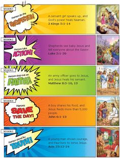Hero HeadQuarters Lessons Overview...probably my most favorite VBS curriculum ever.