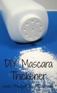 Simply dab BABY POWDER on the ends of your eye lashes ,with a Q-Tip, after your first layer of mascara. Next apply your second coat of mascara and enjoy LONG and BEAUTIFUL eye lashes! Now go share this awesome and easy beauty tip with your girl friends on your next night out