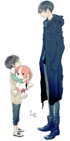 Attack on Titan ~~ It's hard to keep in mind, but Levi is (according to rumours) old enough to be Eren's father.