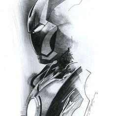 Iron Man by Jeff Dekal Avengers Drawings, Avengers Art, Marvel Fan Art, Marvel Heroes, Marvel Noir, Ironman Tattoo, Iron Man Drawing, Iron Man Art, Marvel Tattoos