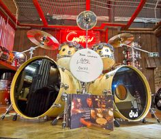DW Collectors Maple 6-Piece Ex-Oasis Alan White Shell Pack in Natural Finish (Pre Loved)