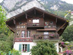 Swiss chalet on way to Habkern to Interlaken
