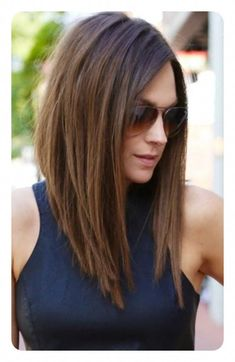 Welcome to today's up-date on the best long bob hairstyles for round face shapes – as well as long, heart, square and oval faces, too! Bob Hairstyles For Round Face, Inverted Bob Hairstyles, Long Bob Haircuts, Cool Hairstyles, Hairstyle Ideas, Hair Ideas, Bangs Hairstyle, Haircut Short, Long Angled Haircut