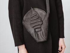 Leder Handtasche / / schwarz Leder Ranzen / von circumambulation
