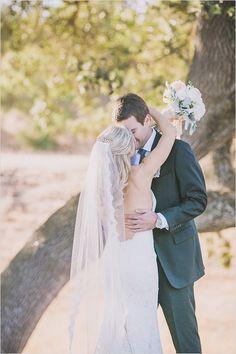 long wedding veil for bride #veil #bride #weddingchicks http://www.weddingchicks.com/2014/02/21/classic-pink-and-gold-wedding/
