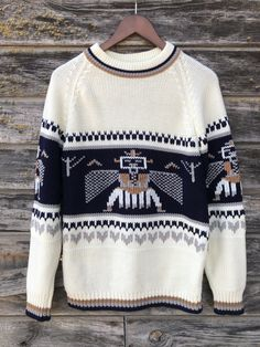 Vintage 1970s Men/'s Pullover Sweater NOS size medium chest 48 length 30 NavyBluewhite washable gift Sale