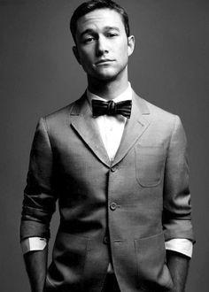 Joseph Gordon-Levitt - bow tie, cotton coat