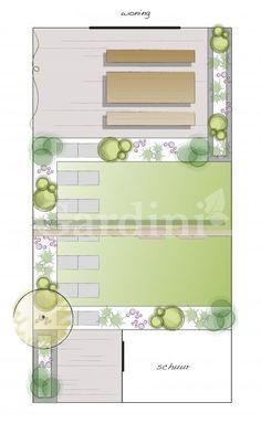 Like: idee indeling tuin Small Backyard Gardens, Backyard Garden Design, Dream Garden, Home And Garden, Garden Planning, Layout, Garden Inspiration, Home Deco, Exterior