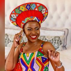 Latest African Fashion Dresses, African Print Fashion, African Prints, Fashion Prints, Fashion Design, Zulu Traditional Attire, African Traditional Wear, Traditional Dresses, African Hats