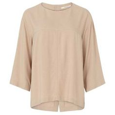 Pomandere Blush Blouse ($105) ❤ liked on Polyvore featuring tops, blouses, viscose blouse, sleeve blouse, loose tops, loose fit tops and loose fitting tops