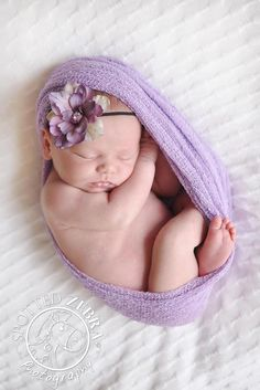 Purple Delphinium Flower Headband $10