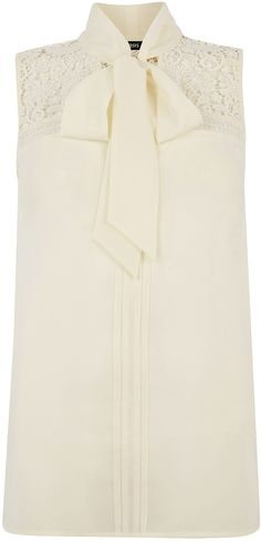 Womens cream blouse from Oasis - £36 at ClothingByColour.com