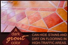 The importance of tile grout colors lies in the fact that they can add a dramatic effect to the final look of newly installed tiles, or unify the tiles to give the appearance of one large space. Here's how you can choose and use these colors. How To Clean Rust, How To Remove Rust, Tile Grout, Tiling, Mousetrap Car, Grout Colors, Mirror Cleaner, Get Rid Of Ants, Dramatic Effect