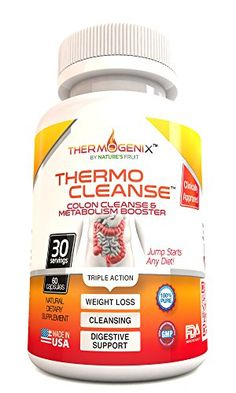 ThermoCleanse Thermogenic Colon Cleanse - The Best, Natural, Super Colon Cleanse Weight Loss & Detox Pills for Women and Men! This is the Most Effective 'Triple Action' Custom Colon Cleansing Formulation on Amazon With a Combination of Proprietary Thermogenic (Fat Burning), Fiber and Herbal Blends. Shed the Pounds & Stubborn Belly Fat. Aids in Fat Loss, Supports Digestive Health, Relieves Constipation and Bloating, Eliminates Wastes and Toxins and Promotes a Flatter Stomach. Jump Start Your…