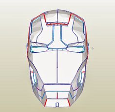 Dali-Lomo: Iron Man Mark 42 Costume Helmet DIY - Cardboard build with template