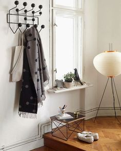 Just a very beautiful piece to organise your home - The Hang it all by Charles & Ray Eames in our Black Collection. #Vitra #design #eames #hangitall #occasionaltable #eameshousebird
