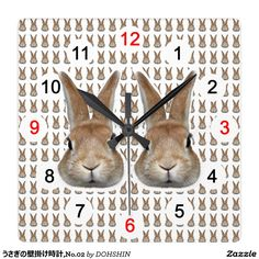うさぎの壁掛け時計,No.02 ウォールクロック