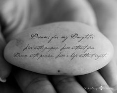 daughter quotes | Personalized Gift for daughter - Inspirational Message on Stone - 8x10 ...