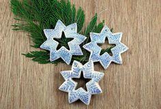 Estrellas árbol navidad manualidades pasta de sal DIY