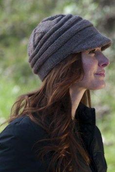 Free knitting pattern for Lana D'Oro Alpaca Knit Stalker Hat Susie Bonell designed this modern take on the deer stalker hat.