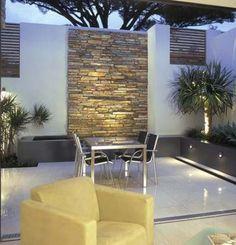 16 Super Ideas For Wall Outdoor Lighting Spaces Outdoor Pergola, Outdoor Rooms, Backyard Patio, Outdoor Furniture Sets, Outdoor Decor, Small Courtyards, Contemporary Garden, Garden Seating, Garden Spaces