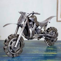 Collectible Recycled Metal Model Motor Cycle