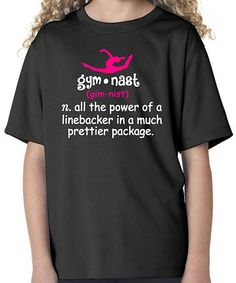 Look at this Black 'Gymnast' Definition Tee - Girls & Women by Bay Wear Gymnastics Shirts, Gymnastics Party, Gymnastics Quotes, Gymnastics Workout, Gymnastics Outfits, Gymnastics Leotards, Gymnastics Stuff, Black Gymnast, Dance Shirts