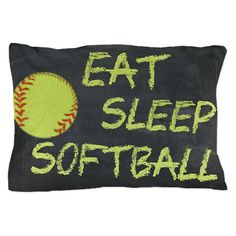 Fastpitch Softball Pillowcase by PrintsAtTheJunction on Etsy, $31.60