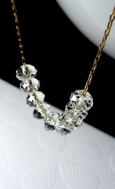 Sex and the City - Carrie Bradshaw Diamond Necklace - 14K Goldfilled Necklace.