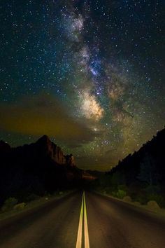 Milky Way over Zion's Mount Carmel Highway, Zion National Park, Utah, United States