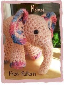 Mei Mei Crochet Elephant22 225x300 Meimei   Free Baby Elephant Crochet Pattern