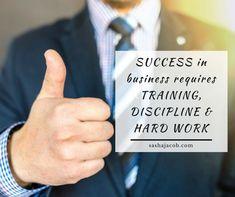 #Training #Discipline #Hardwork Business Quotes, Business Ideas, Inspiring Quotes, Motivational Quotes, Work Hard, Leadership, Qoutes, Management, Success
